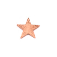 Copper Solderable Accent  - Silver Art Nouveau Star 24g