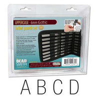 Beadsmith - Gothic Uppercase Metal Stamp Set 6mm