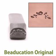 Beaducation Magnolia Branch Border Design Stamp 11mm