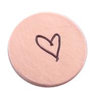 The Urban Beader - Kids Drawn Heart Design Stamp - 3mm