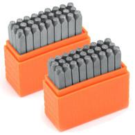 IMPRESSART - Basic Economy Bridgette Upper/Lowercase COMBO Metal Stamp Set  3mm