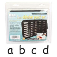 Beadsmith - Comic Lowercase Metal Stamp Set 3mm