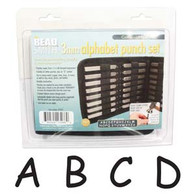 Beadsmith - Comic Uppercase Metal Stamp Set 3mm