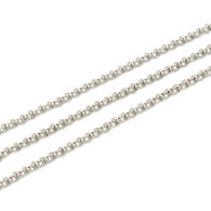 Stainless Steel Rolo Chain 2.5x1mm Per Metre