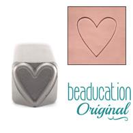Beaducation Large Heart Outline Design Stamp 11mm