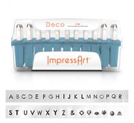 IMPRESSART - Deco Uppercase Metal Stamp Set  3mm
