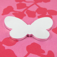 2mm Chunky Aluminium Butterfly Stamping Tag Blank - 40mm