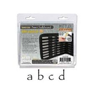 Beadsmith - Chalkboard Lowercase Metal Stamp Set 3mm