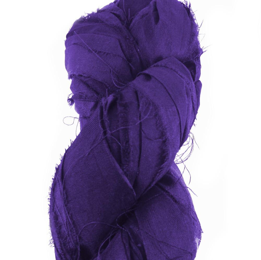 Silk Sari Ribbon Fair Trade - Plum Purple
