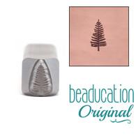 Beaducation Evergreen Tree Medium Design Stamp 2.5x8mm