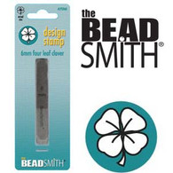 Beadsmith -  Four Leaf Clover Metal Design Stamp - 6mm