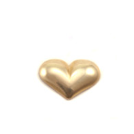 Brass Solderable Accent  - Mini Puffy Heart 24g