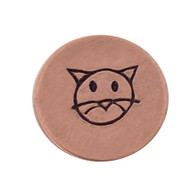 The Urban Beader - Cat Face Design Stamp - 5mm