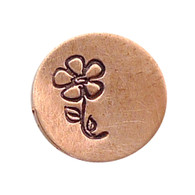 The Urban Beader - Flower on a Stem Design Stamp - 6mm