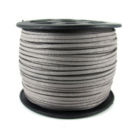 Light Grey Faux Suede Cord 3x1.5mm - 1Mtr