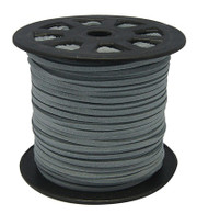 Faux Suede Cord 3x1.5mm - Dark Grey