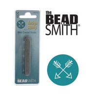 Beadsmith -  Crossed Arrows Metal Design Stamp - 6mm