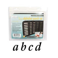 Beadsmith - Stylish Italic Lowercase Metal Stamp Set 3mm
