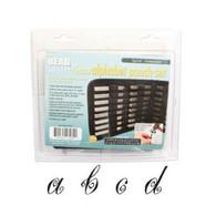 Beadsmith - Spiral Lowercase Metal Stamp Set 4mm