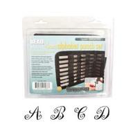 Beadsmith - Spiral Uppercase Metal Stamp Set 4mm