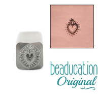 Beaducation Small Sacred Heart Design Stamp 6x7mm