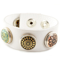 Little Chunks Real Leather White ripple Chunk Complete Bracelet