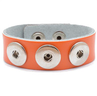 Little Chunks Interchangeable Real Leather Orange Triple Chunk Bracelet