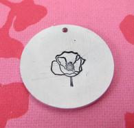 Mrs Poppy Metal Design Stamp - 10mm