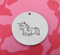 Unicorn Metal Design Stamp - 10x14mm