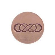 The Urban Beader - Double Infinity Design Stamp - 8x2mm
