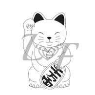 Lucky Cat Metal Design Stamp - 13mm