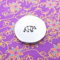 Bear Origami Metal Design Stamp - 10mm