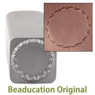 Beaducation Wavy Edge Circle Border Design Stamp 16mm