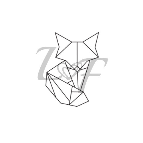 Origami Fox Metal Design Stamp 10mm From Little Freckle