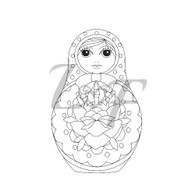 Babushka Russia Doll Metal Design Stamp - 13mm