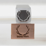 Antler Metal Design Stamp - 13x16mm