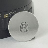 Brain Metal Design Stamp - 6mm
