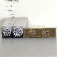 Rose Style 1 Metal Design Stamp