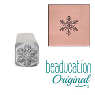 Snowflake Design Stamp 8mm
