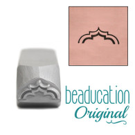 Beaducation Wide Moroccan Arch Metal Design Stamp 11x4mm