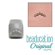 Beaducation Wide Moroccan Arch Metal Design Stamp 6x3mm