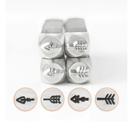 IMPRESSART - Arrows Metal Stamp Set - 6mm