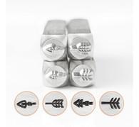 IMPRESSART - Arrows Metal Stamp Set - 6mm