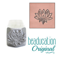 Beaducation Small Lotus Design Stamp 8mm