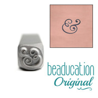Beaducation Large  Ampersand Design Stamp 6.5mm