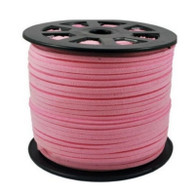 Faux Suede Cord 3x1.5mm - Baby Pink