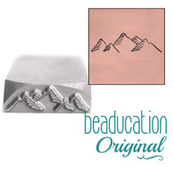 Beaducation Mountain Range Design Stamp 17mm