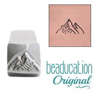 Beaducation Mountain Range Small Design Stamp 12mm
