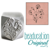 Art Nouveau Flower Bouquet Metal Design Stamp - 17.8mm x14.8mm Beaducation