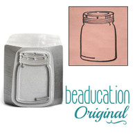 Large Mason Jar Metal Design Stamp - 16x8mm  Beaducation